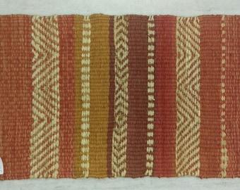 """Handmade Jute Rug, Hemp Rug, Natural Rug,  Area Rug, Scandi Rug, Floor Rugs, 1'4""""X2'2"""" Runner, Geometrical Rug, Flatweave Rug"""