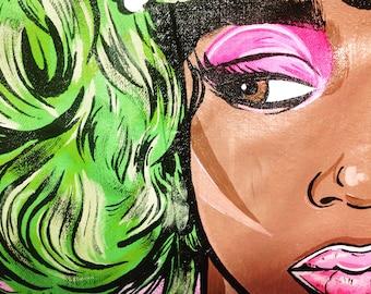 Originally!!!! Denim jacket coat hand made!!! Hand painted!! Love! Girl!