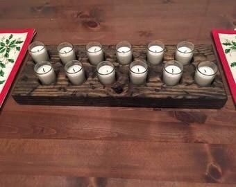 Wood Votive Candle Holder