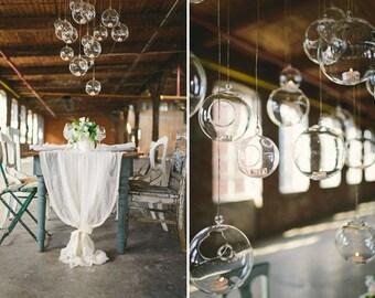 """18 SALE 6"""" Hanging Orbs Terrariums Votive Holder Candle Holder Tea Light Centerpieces Wedding Centerpieces Floral Arrangements Wholesale"""