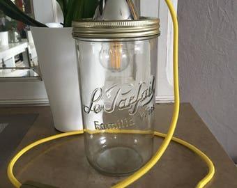 Accent lamp design glass jar / light design on a glass jar