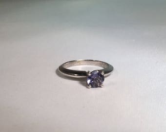 Iolite, Solitaire, 14kt white gold, engagement ring,