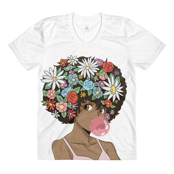 Afro Pop Women's Sublimation crew neck shirt