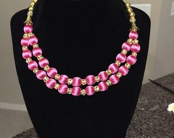 Handmade silk thread jewelry for little girls