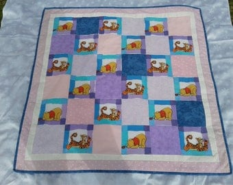 Pooh bear and Tigger child's quilt