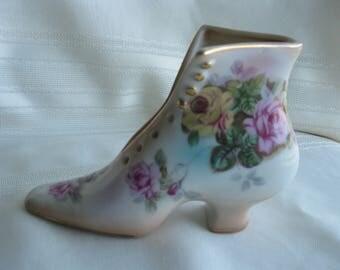 Victorian shoe bud vase