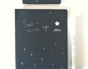 Notebook, mini black Notebook, notebook design and scrapbooking