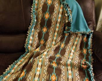 Western fleece lap blanket