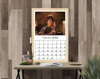 Harry Potter and the Sorcerer's Stone Inspired 2018 Calendar, Instant Download, Digital Print