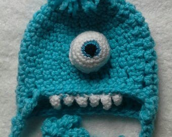 One eyed turquoise monster is fun hat for any adventures for your toddler.