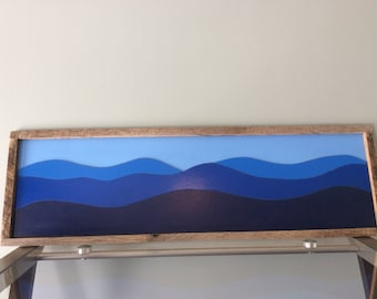 Blue Ridge Mountain Scene, Cabin decor, Blue Ridge Mountains, Appalachian Mountains, Handmade,Mountain Landscape,