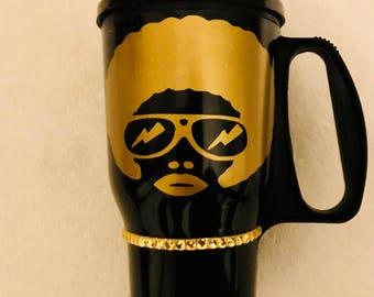 Custom Insulated Afro Mug