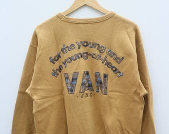 VAN JAC For The Young And The Young-At-Heart Brown Vintage Sweater Sweatshirt Size L