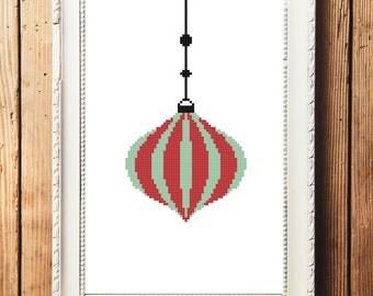Christmas Ornament I Cross Stitch Pattern (Digital Download)