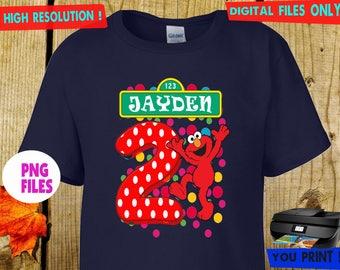 Sesame Street, Iron On Transfer, Sesame  DIY Iron On Transfer,  Sesame Street Birthday Shirt DIY. Digital Files, Personalize, PNG Files.