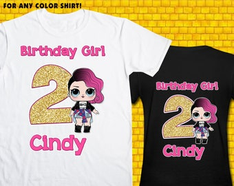 Lol Surprise Doll / Iron On Transfer / Lol Surprise Doll Birthday Shirt Transfer DIY / High Resolution 300 DPI / Digital Files