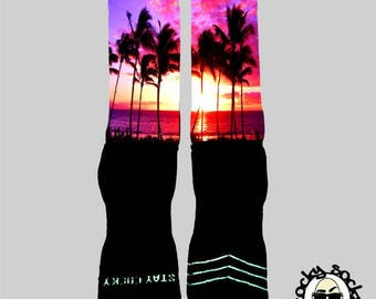 Sunset Socks || FREE SHIPPING ||