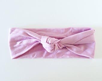 Soft Lilac knot headband