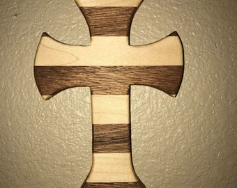 Handmade Maple and Red Oak Cross