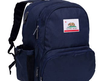 State of Mind California Flag 17 Inch Backpack
