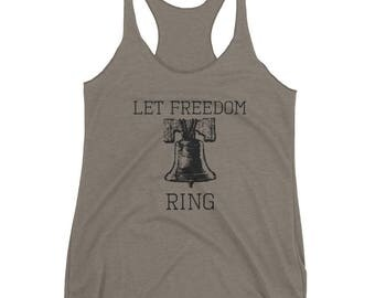 Let Freedom Ring American Women's Racerback Tank