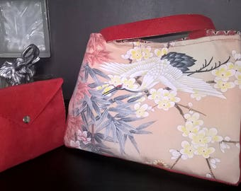 Coral bird bag