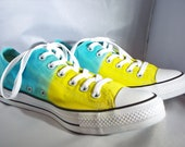Yellow and Blue Converse
