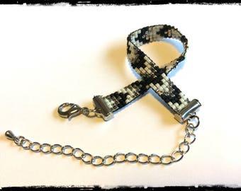Bracelet for girl, weaving beads Miyuki