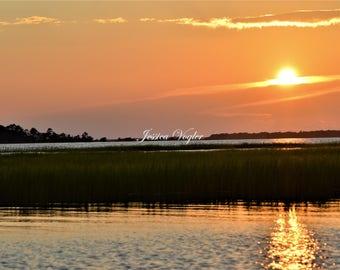 Salt Water Marsh at Sunset