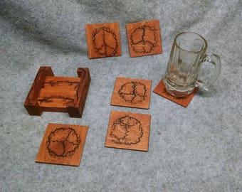 Peace Sign coaster set  *fractaled*