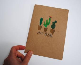 Happy Birthday Cactus Card
