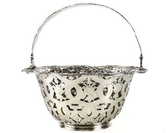 Tiffany & Co Makers Sterling Silver Flower Basket #16201, John C. Moore