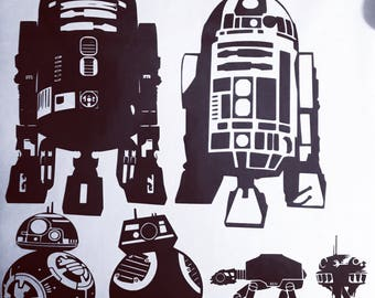 Star Wars Droid Family Vinyl Decal