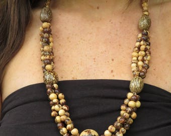 Necklace seeds acai and Tropical Forest seeds