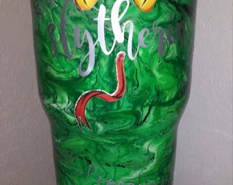 30oz handcrafted stainless steel Harry Potter Slytherin Tumbler