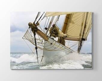 Ship-Sailboat Printing On Canvas, Wall Art, Canvas Prints, Room Deco, Beautiful View, Wonder, Sea