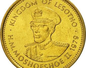 lesotho moshoeshoe ii 2 lisente 1979 ms(65-70) nickel-brass km17