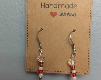 Pinkness star beaded earrings