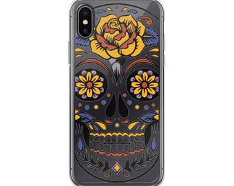 iPhone Case with day of the dead skull
