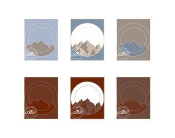 Mountain digital art print individual prints