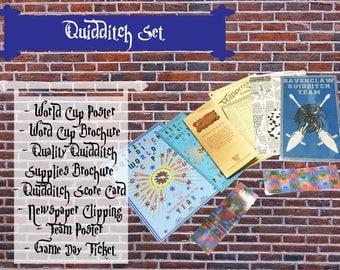 Quidditch Paper Props - Hogwarts- Harry Potter- Wizard School