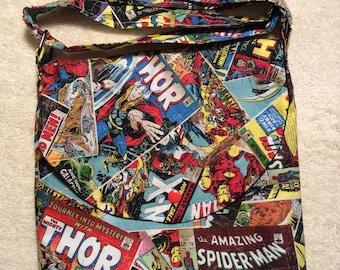 Avengers Comic Book Covers Adjustable Shoulder Bag