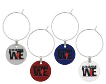 Deplorable We Wine Charms