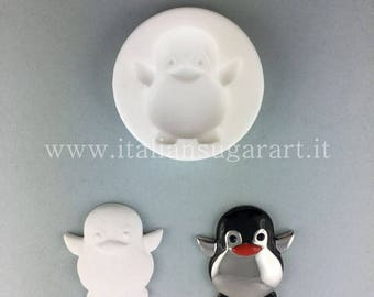 Silicon Mold Silicone Penguin mould 3d for DIY favors and resin jewelry
