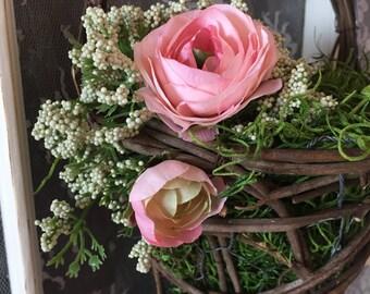 Elegant Floral Wall Basket