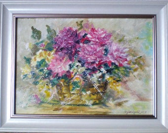 bouquet of peonies impressionism oil on canvas