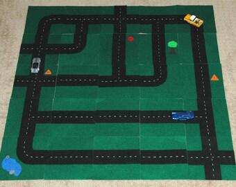 Matchbox / Hotwheels Car Road Mat Squares Template
