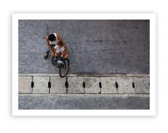 Bangkok, Thailand, Photography, bicycle, fine art print, wall art, unique culture, world travel art, vintage art, giclee print, 12x16, RIBBA