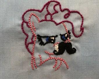 Pinkie Pie with mustache