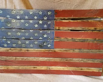 Large American Flag Wall Hanging
